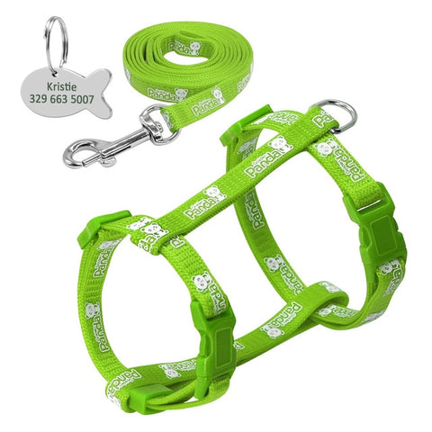 Image of OB Nylon Cat Harness and Leash Set