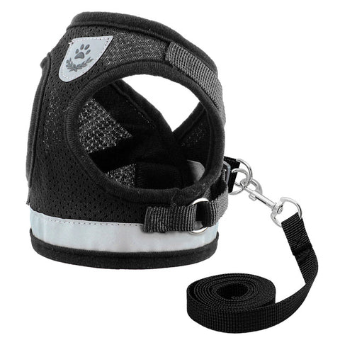 Image of OB Nylon Cat Harness And Leash Set Reflective