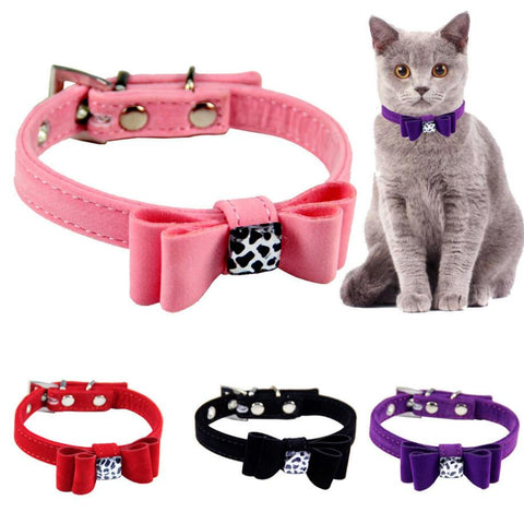 Adjustable Dog Collars Pet Solid Soft Colorful Collars For Small Medium Dogs Neck Strap Adjustable Safe Puppy Kitten Cats Collar