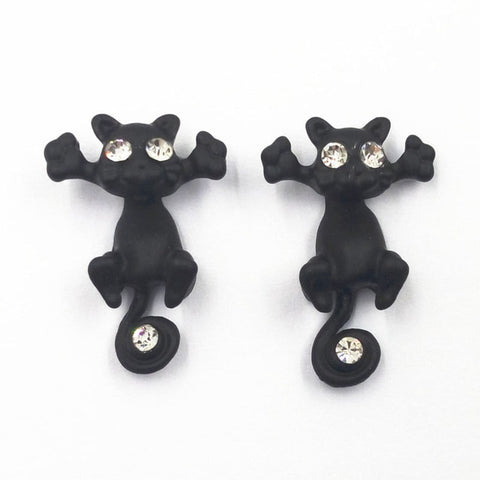 11.11 Sale 1Pair Fashion Multiple Color Classic Fashion Kitten Animal Jewelry Cute Cat Stud Earrings For Women Girls