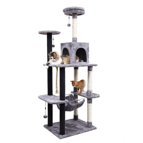 178CM Luxury Cat Scratching Post Large Climbing Frame For Cat KitternToys House Multi-functional Cat Tree Board Condo Furniture