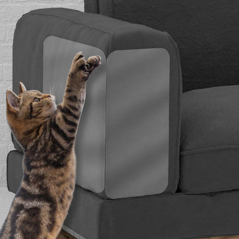 2PCS Couch Guard Cat Claw Protector Pinless Self-adhesie Protect Pads Cat Scratching Furniture For Upholstery Leather Chairs