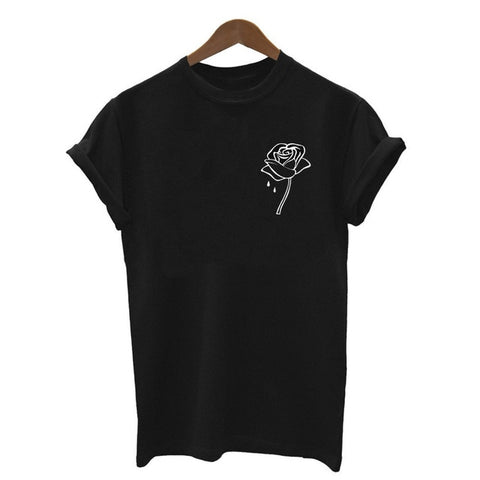 OB Harajuku Black T Shirt Women Tops Punk