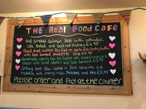 Visit the Orkney Real Food Cafe and Restaurant – Judith Glue
