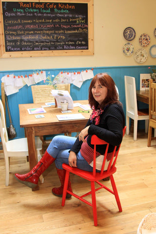 Judith in the Real Food Cafe, Kirkwall