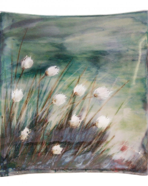 Highland Stoneware Cotton Grass Medium Square Plate £55.00