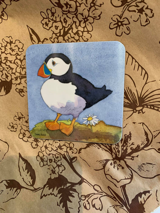 Emma Ball Single Puffin Coaster £2.95