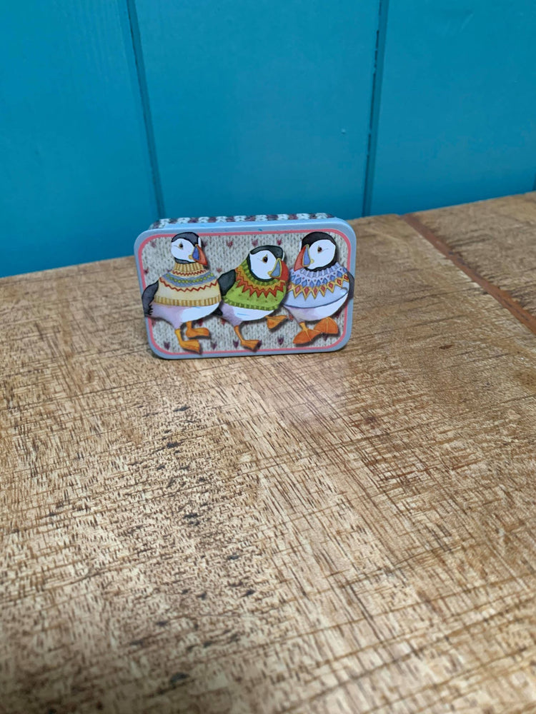 Emma Ball Woolly Puffin Mini Pocket Tin £3.95