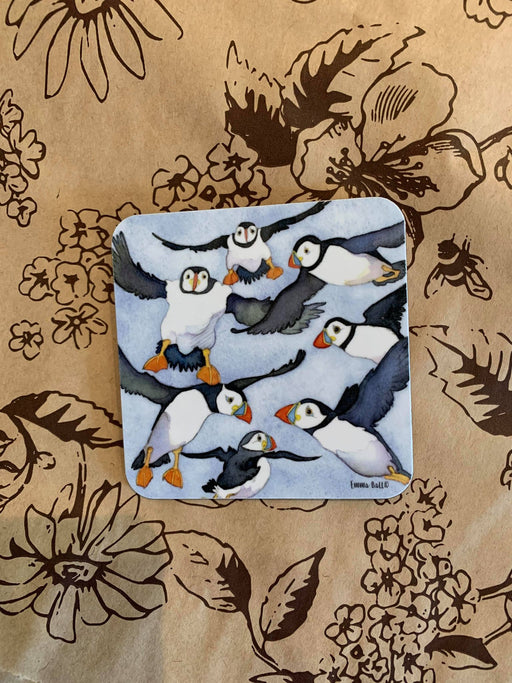 Emma Ball Lots of Puffin Coaster £2.95