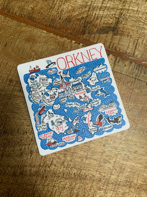 Judith Glue Orkney Map Coaster £3.95