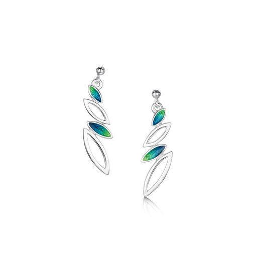 Sheila Fleet Spring Summer Seasons Silver and Enamel Drop Earrings ( EE262 )  £107.00