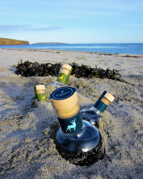 Deerness Distillery Gin - Sea Glass Miniature 10cl £8.99 with gin mat