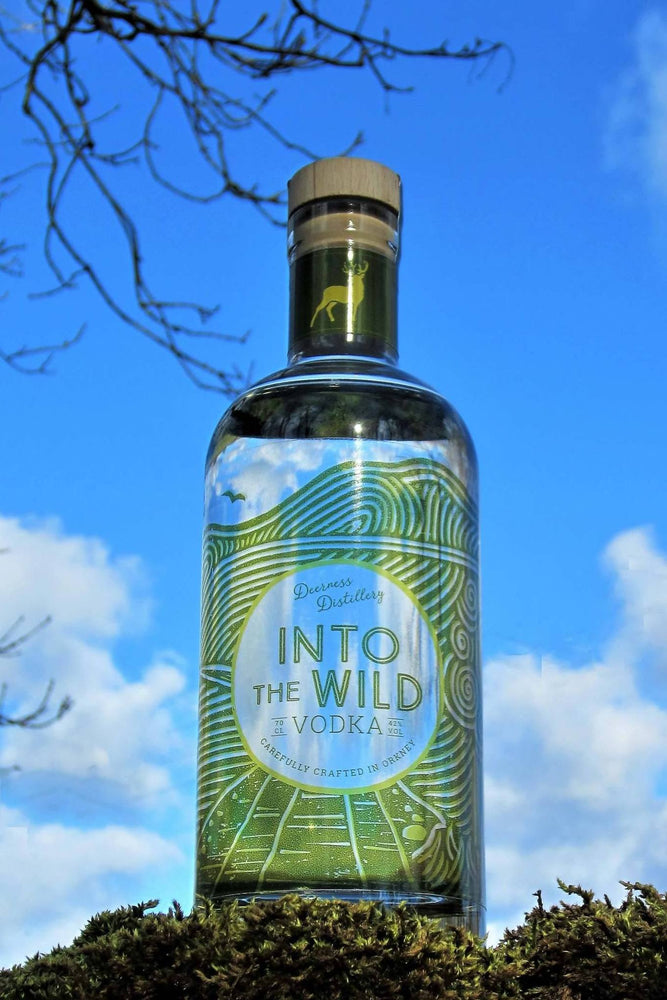 Deerness Distillery Vodka - Into The Wild 70cl £32.00 with Vodka Mat