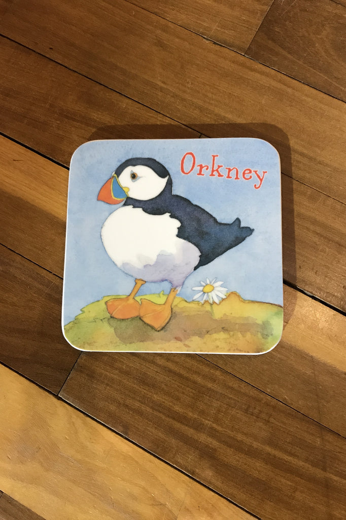 Emma Ball Orkney Puffin Coaster £2.95