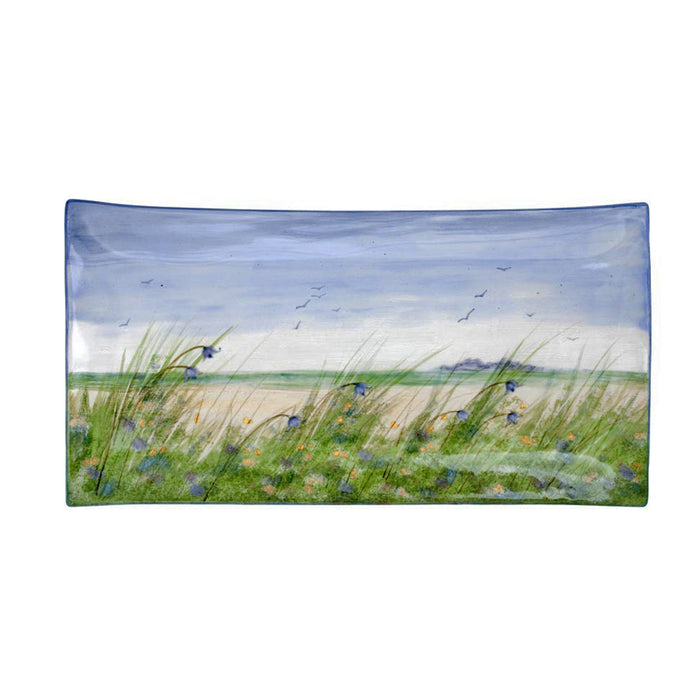 Highland Stoneware Machair Grass X-Large Rectangle Plate £139.95