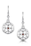 Sheila Fleet Cathedral Garnet Earrings in Sterling Silver £127.00