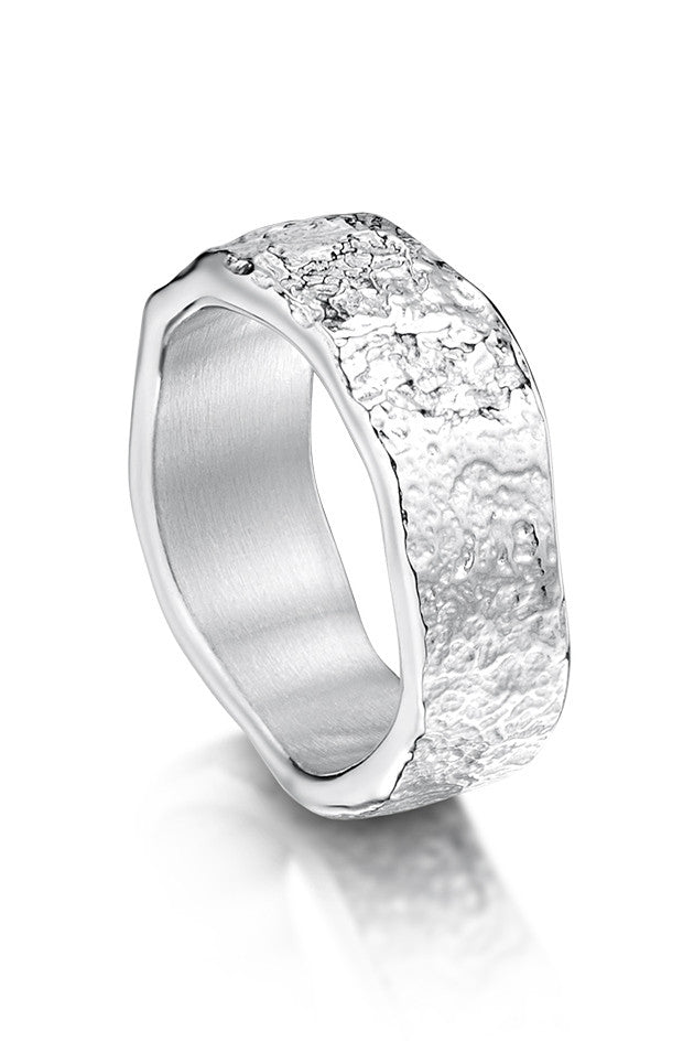Sheila Fleet Matrix Texture Ring in Sterling Silver £91.00