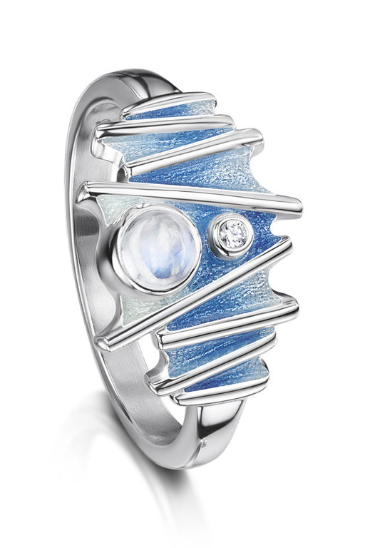 Sheila Fleet Moonlight Ring in Moonstone ( ESR149 )  £147.00