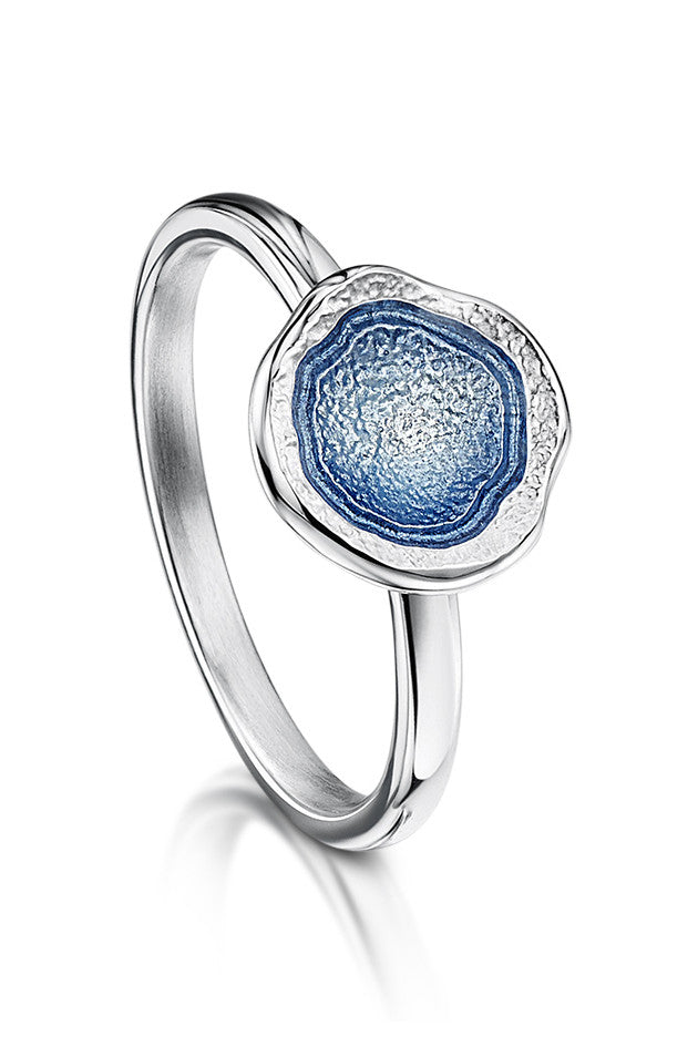 Sheila Fleet Lunar Ring in Lunar Blue £67