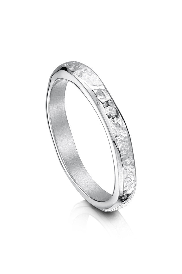 Sheila Fleet Matrix Texture Thin Ring in Sterling Silver ( R0215-SIL )  £77.00