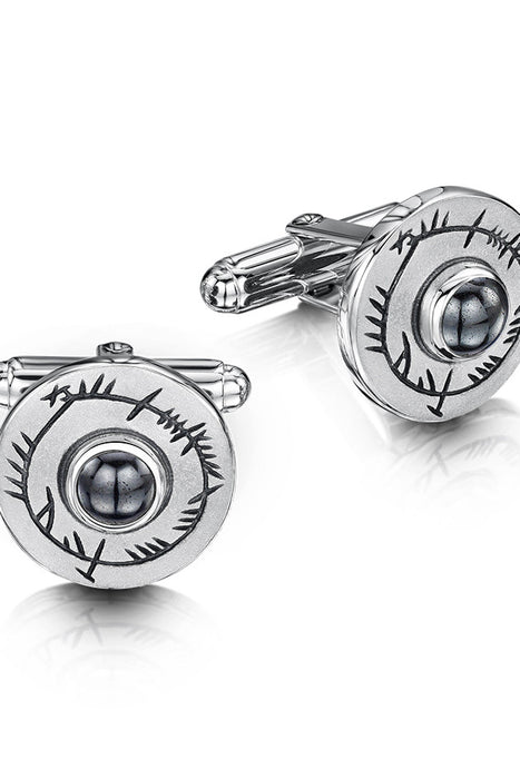 Sheila Fleet Ogham Cufflink in Sterling Silver £144.00