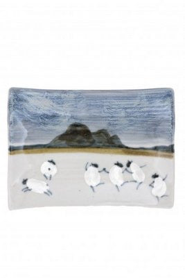 Highland Stoneware Sheep rectangle dish £24.95
