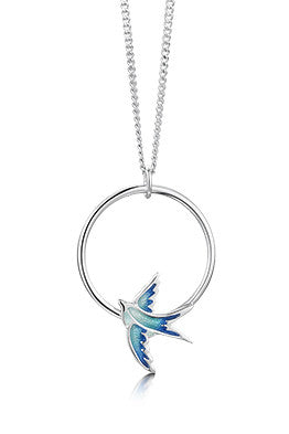 Sheila Fleet Swallows Hoop Pendant £84.00