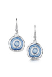 Sheila Fleet Brodgar Eye Drop Earrings in Misty Blue £133.00