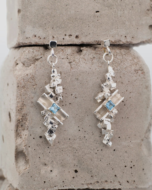 20% OFF Zoe Davidson Silver topaz Barrier Drop Earings WAS £114.00 NOW £91.50