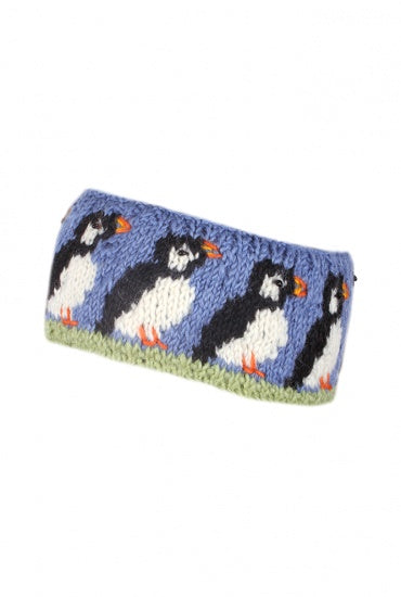 Circus of Puffins Knitted Head band £14.95