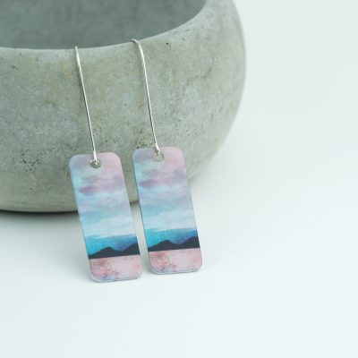 Cath Waters Jura from Mull Aluminium and Silver Earrings £29.95