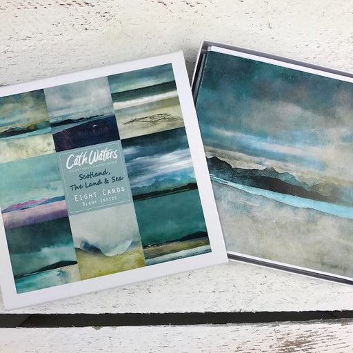 Cath Waters Scotland Land and Seas Boxed set of 8 Greetings Cards £12.95