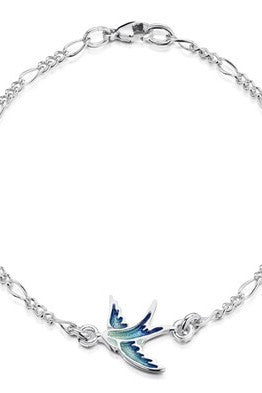 Sheila Fleet Swallows Bracelet Summer Blue ( EBL0197 )  £87.00