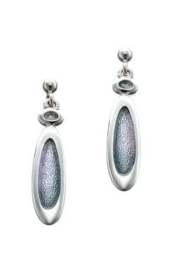 Sheila Fleet Shoreline Pebble Earrings in Pearl Grey £90.00