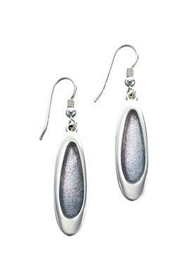 Sheila Fleet  Shoreline Pebble Earrings Pearl Grey