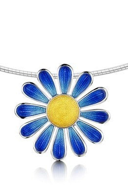 Sheila Fleet Coloured Daisies Necklet in Ocean ( C-ENXX233 )  £246.00