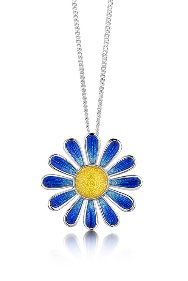 Sheila Fleet Coloured Daisies Pendant in Ocean £129.00