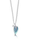 Sheila Fleet Rowan Single Leaf Pendant in Sage