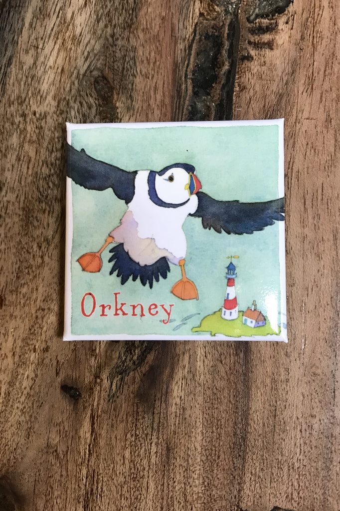 Emma Ball Puffin Orkney Magnet £2.95