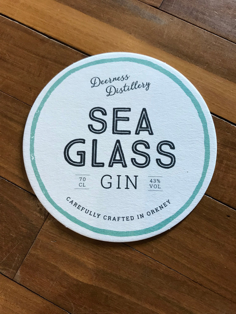 Deerness Distillery Gin - Sea Glass 20cl £16.99 with gin mat