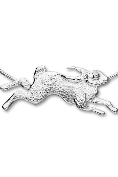 Fluke Jewellery - Engraved Hare Stirling Silver Pendant £99.00