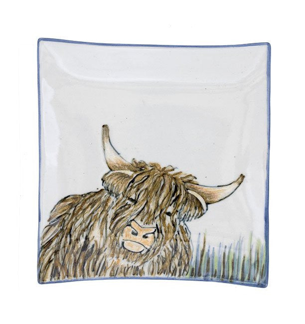 Highland Stoneware Cow Square Plate £52.95