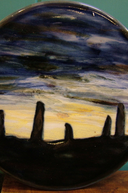 "Judith Glue Ceramic Ring of Brodgar ""Night Sky"" Trivet £34.95"