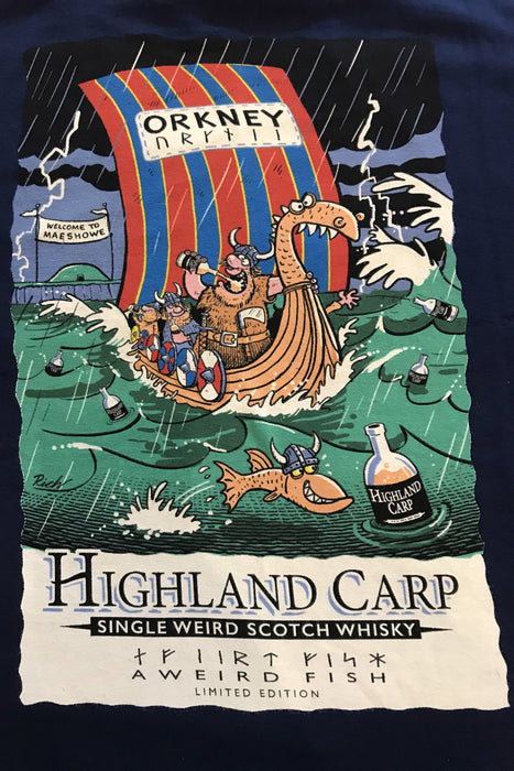 Weird Fish Unique Highland Carp T-Shirt in Maritime Blue  £20.00