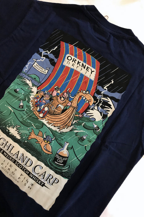 25% OFF Weird Fish Unique Highland Carp T-Shirt in Maritime Blue  WAS £20.00 NOW £15.00