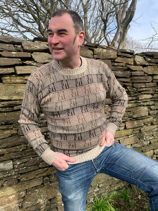 15% OFF Orkney Runic Crewneck Sweater in Shorelines WAS £139.95 NOW £118.95