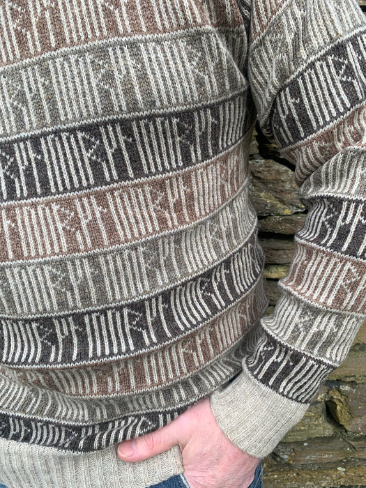 Orkney Runic Crewneck Sweater in Shorelines  £139.95