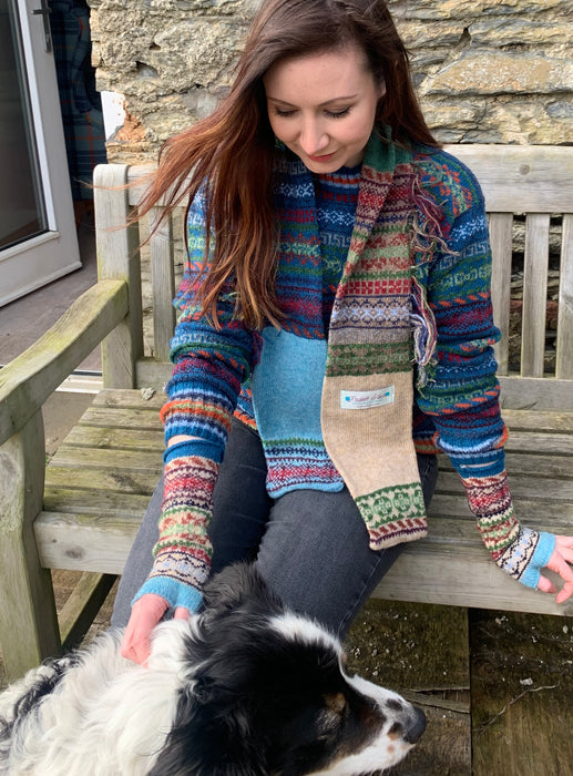 15% OFF Rackwick Fair Isle Shorelines Fringed Scarf WAS £55.00 NOW £46.75