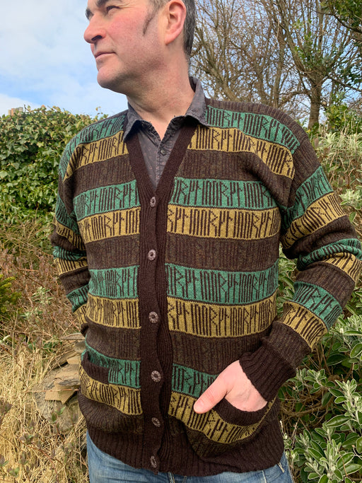 15% off Orkney Runic V-Neck Jacket in Lichen WAS £149.95 NOW £127.45