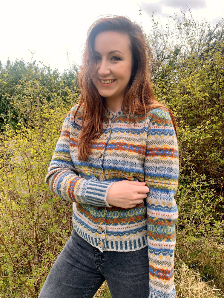 15% OFF Eribe Westray Fair Isle Cardigan in Cobble WAS £183.00 NOW £155.00